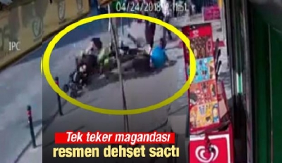 İstanbul'da 'tek teker magandası' dehşet saçtı
