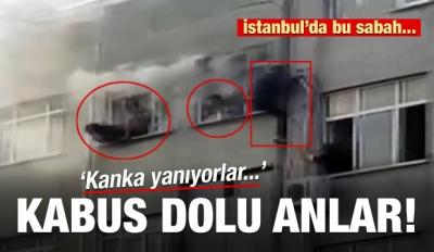 İstanbul'daki yangında can pazarı kamerada