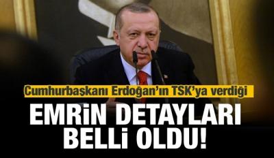 İşte Erdoğan'ın TSK'ya verdiği emrin detayları
