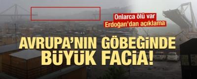 İtalya'da Köprü Faciası! Erdoğan'dan Açıklama