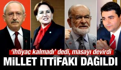 İYİ Parti: Millet İttifakı sona erdi
