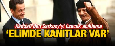 Kaddafi'den Sarkozy iddialarına destek geldi