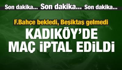 Kadıköy'de karar verildi! Maç iptal...
