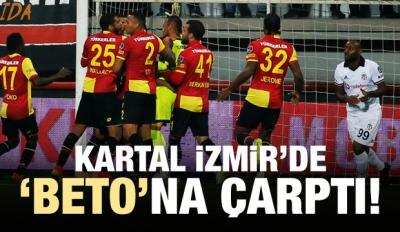 Kartal İzmir'de 'Beto'na çarptı!