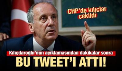 Kılıçdaroğlu Konuşurken İnce Paylaştı...