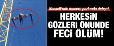 Kocaeli'ndeki Macera Parkında Dehşet Anları!