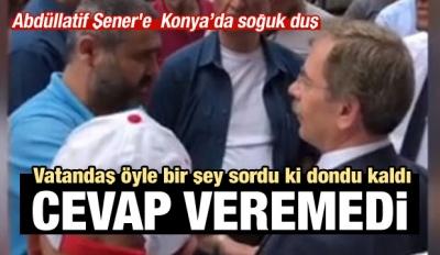 Konya'da CHP'li Abdüllatif Şener'e soğuk duş!