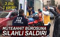 Konya'da Müteahhit Bürosuna Silahlı Saldırı: 3 Ölü, 1 Yaralı
