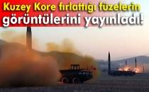 Kuzey Kore Fırlattığı Füzelerin Görüntülerini Yayınladı