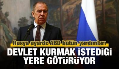 Lavrov: ABD yardımları belli bir bölgeye götürüyor