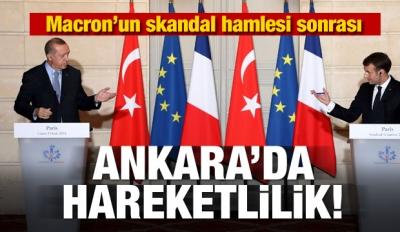 Macron'un açıklaması sonrası Ankara'da hareketlilik