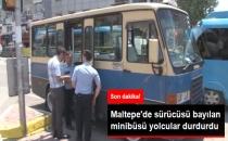 Maltepe'de Sürücüsü Bayılan Minibüsü Yolcular Durdurdu