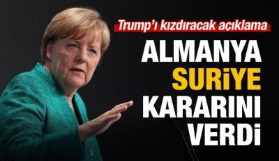 Merkel 'Suriye' kararını açıkladı!
