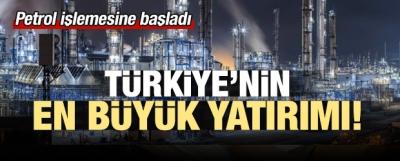 Meşale ateşlendi! Türkiye'nin en büyük yatırımı