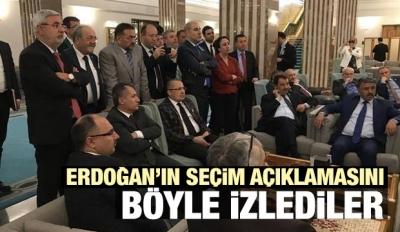 Milletvekilleri Erdoğan'ın açıklamasını böyle izledi