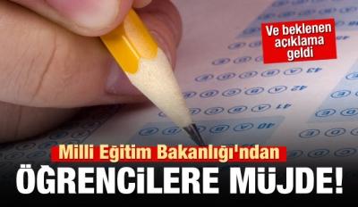 Milli Eğitim Bakanlığı'ndan öğrencilere müjde