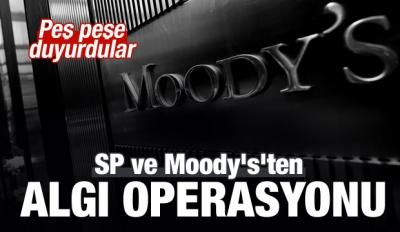 Moody's ve SP Türkiye'nin kredi notunu açıkladı