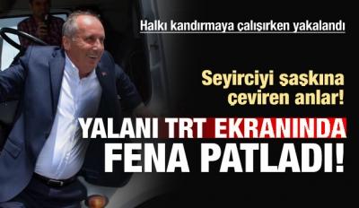 Muharrem İnce, TRT'de yayınlanan konuşmada 'TRT beni yayınlamıyor' dedi