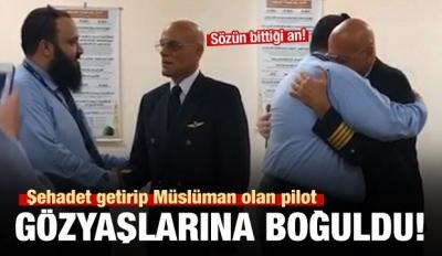 Müslüman olan İtalyan pilot gözyaşlarına boğuldu