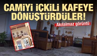 Özbekistan'da büyük skandal! Camiyi içkili kafeye dönüştürdüler