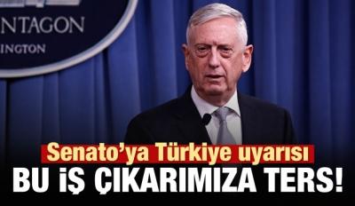 Pentagon'dan ABD Senatosu'na Türkiye uyarısı