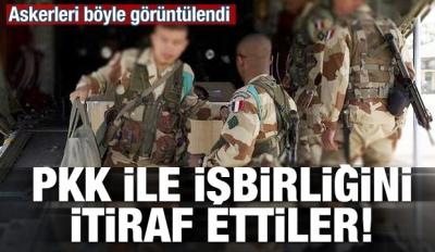 PKK ile işbirliğini itiraf ettiler! Askerleri görüntülendi