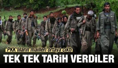 PKK'lıların mailleri ortaya çıktı!