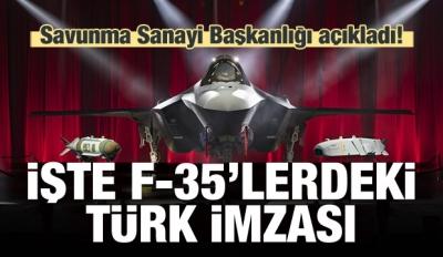 Resmen açıklandı! İşte F 35'lerdeki Türk imzası