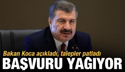 Son Dakika: Sağlık Bakanı Fahrettin Koca açıkladı, talepler patladı! Başvuru yağıyor