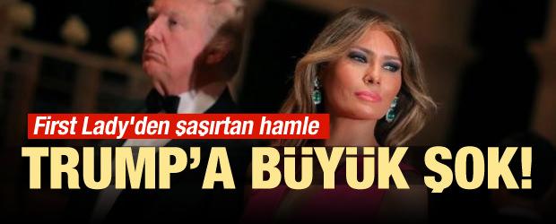 First Lady'den şaşırtan hamle! Trump'a büyük şok