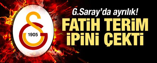 Galatasaray'da ayrılık! Terim ipini çekti