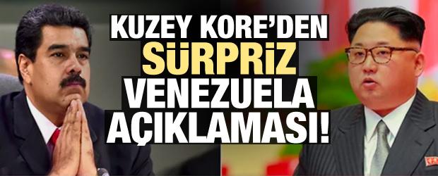 Kuzey Kore'den sürpriz Venezuela açıklaması