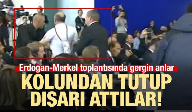 Erdoğan-Merkel Toplantısında Gergin Anlar!