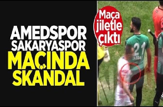 Amedspor - Sakaryaspor Maçında Skandal! Amedsporlu Mansur Çalar, Kesici Aletle Çıktığı Maçta Futbolcuları Böyle Yaraladı!