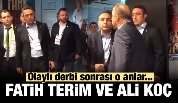 Olaylı derbi sonrası Fatih Terim ve Ali Koç