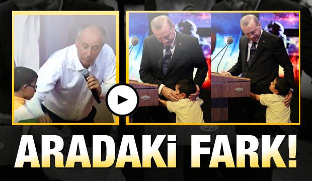 Cumhurbaşkanı Erdoğan Ve Cumhur Başkanı Adayı Muharrem İnce Arasındaki Fark!