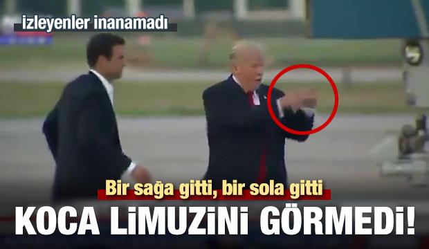 Trump gözünün önündeki limuzini görmedi!
