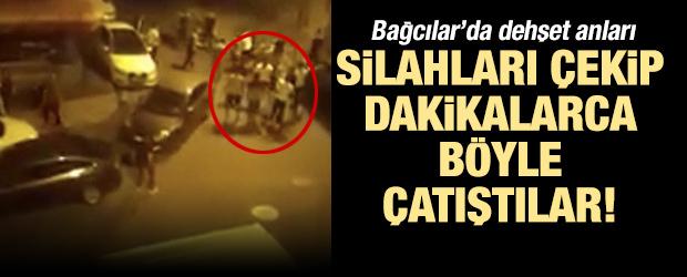 İstanbul'da silahlı çatışma kamerada: 4 ağır yaralı