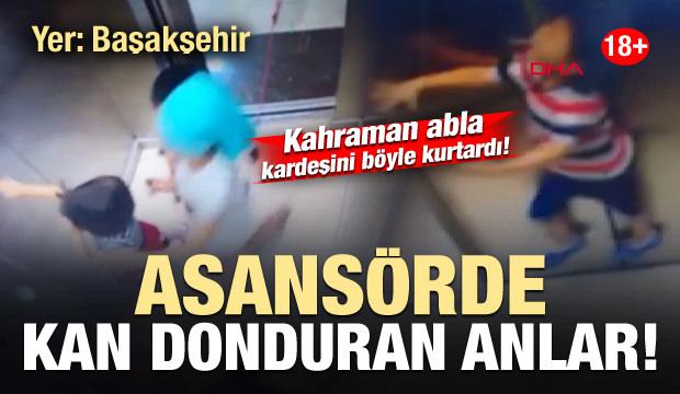 Başakşehir'de kan donduran görüntü! Kardeşini ölümden böyle kurtardı