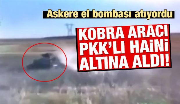 Kobra, el bombası atan teröristi ezip geçti
