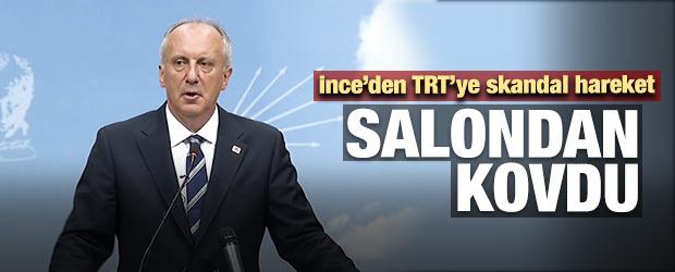 Muharrem İnce'den Skandal Tavır! TRT'yi...