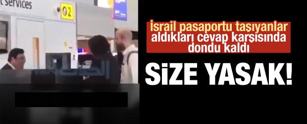 İsrailli Kadın Dondu Kaldı: Size Yasak