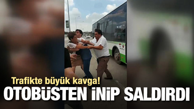 Halk Otobüsünün Tehlikeli Manevrası Kavga Çıkardı