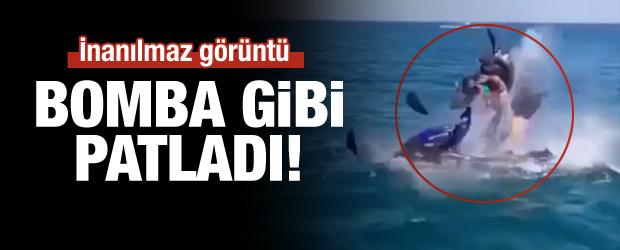 Jet-ski Denizde Bomba Gibi Patladı!