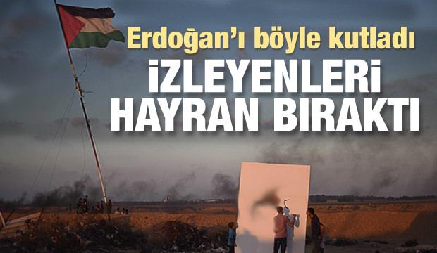 Filistinli Gencin Erdoğan Sevinci!