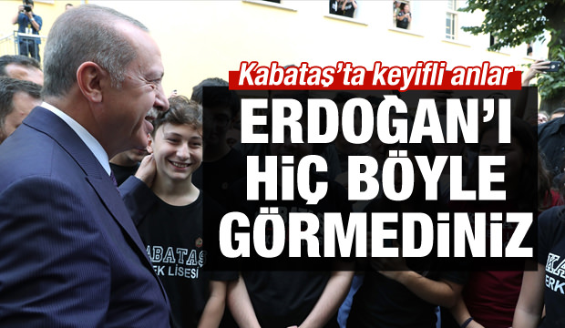 Erdoğan'ı hiç böyle görmediniz!