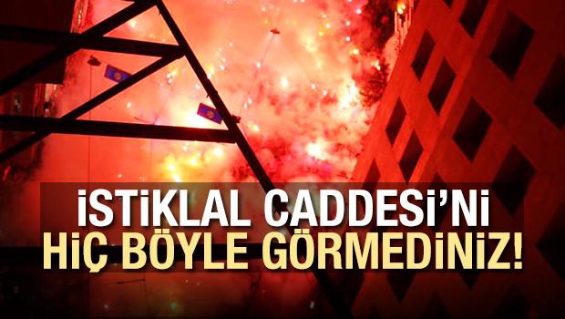 Taksim'de muhteşem şampiyonluk kutlaması