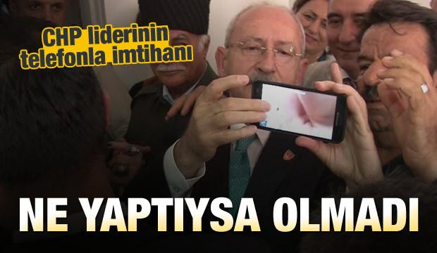 Kılıçdaroğlu'nun Selfie Çekme Mücadelesi