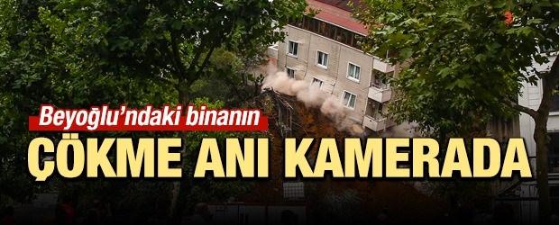 Beyoğlu'ndaki Bina Çöktü!