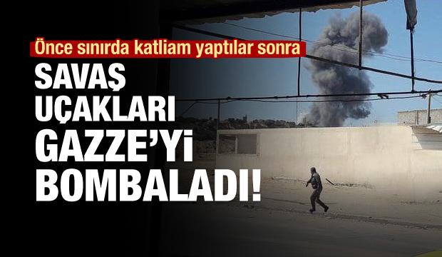 İsrail Jetlerinden Gazze'ye 5 Ayrı Hava Saldırısı!